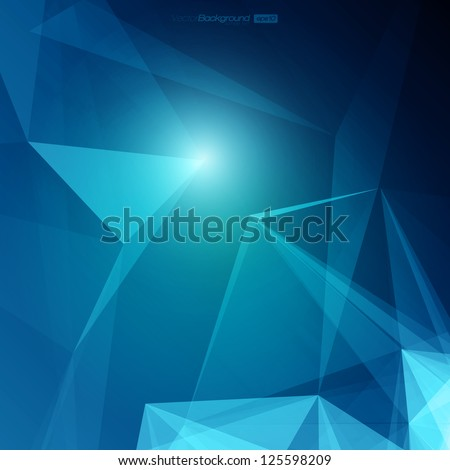 3D Abstract Geometric Background for Design | EPS10 Illustration - stock vector