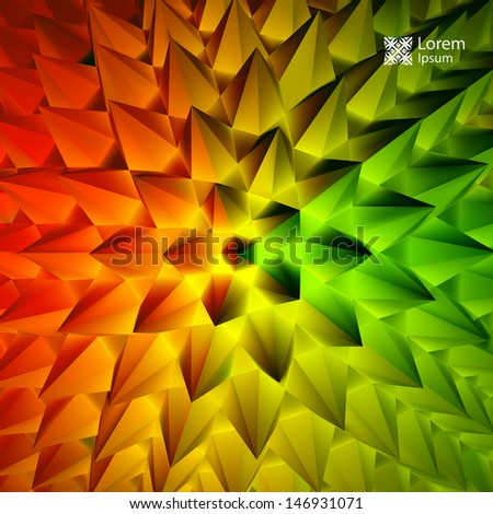 3D abstract illustration. Vector template.  - stock vector