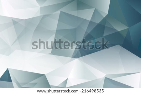 3D Black and White Abstract Mesh Background with Lines and Shapes | EPS10 Design Layout for Your Business  - stock vector