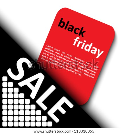 3d black friday sale tag design - stock vector