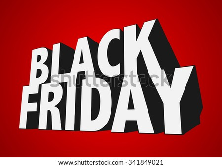 3D Black Friday Sale Text   EPS10 Vecotr - stock vector