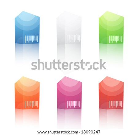 3D blank boxes - stock vector