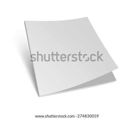3D blank brochure cover. Realistic vector EPS10 illustration. White background. - stock vector