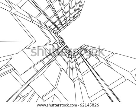 3d blocks - stock vector