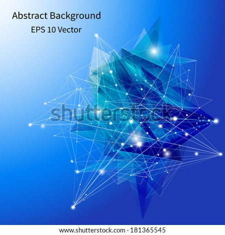 3D Blue Abstract Background with Circles, Lines and Shapes, vector Design Layout for Your Business - stock vector