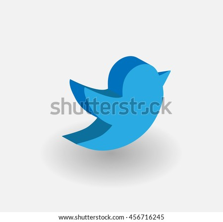 Twitter template stock images royalty free images vectors 3d blue bird tweet bird vector logo jpg jpeg epsitter icon pronofoot35fo Choice Image