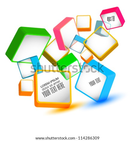 3d boxes vector illustration - stock vector