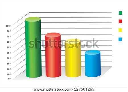 3D Business charts - stock vector