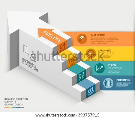 3d business staircase diagram template. Vector illustration. can be used for workflow layout, banner, number options, step up options, web design, infographics, timeline template.