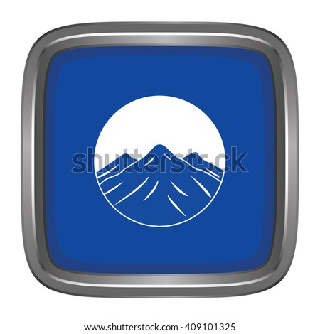 3D button Flag of Kachin Districts / Regions / States of Myanmar. Vector illustration. - stock vector
