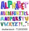 3d cartoon alphabet - stock vector