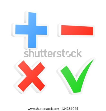 3d checkbox symbols. Vector illustration. - stock vector