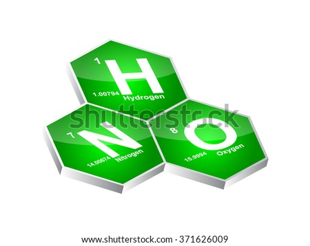 3d chemical element buttons - stock vector