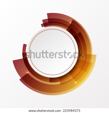 3d circle paper white banner on abstract background. - stock vector