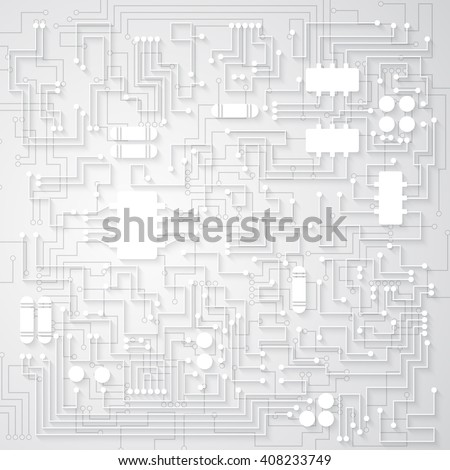 3d circuit board background texture. Vector illustration.