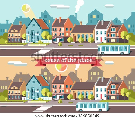 3d city landscape. Vector illustration. - stock vector
