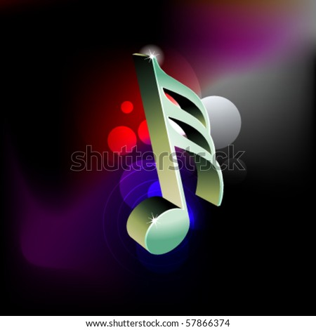 3D clef symbol on a abstract light background - stock vector