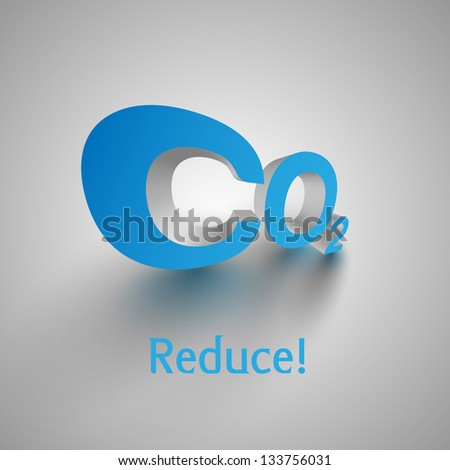 "3D ""CO2"" vector text - stock vector"