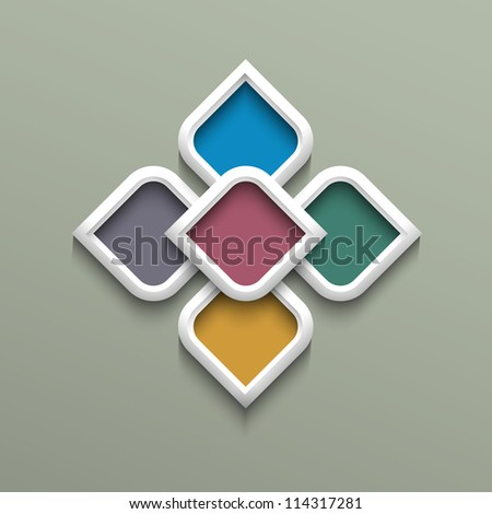 3d color pattern in arabic style. Vector illustration - stock vector