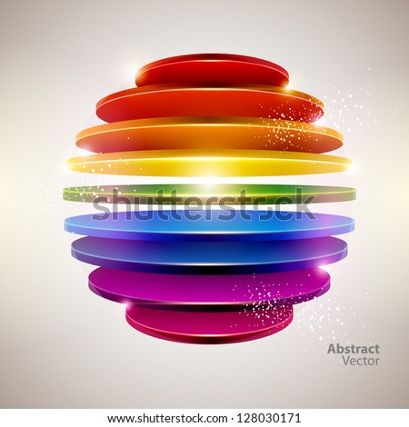 3D colorful ball - stock vector