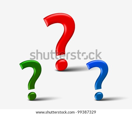 3d colorful question mark vector background - stock vector