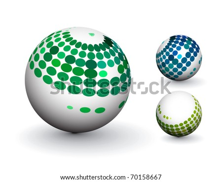 3D colorful sphere design, vector illustration. - stock vector