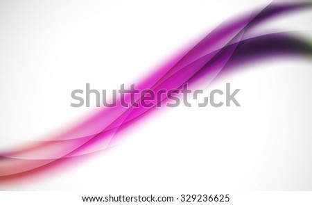 3d colorful wave line, abstract background with light and shadow effects. Wavy pattern, layout - stock vector