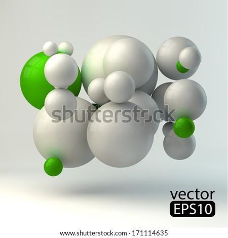3D concept illustration. Vector template8 - stock vector