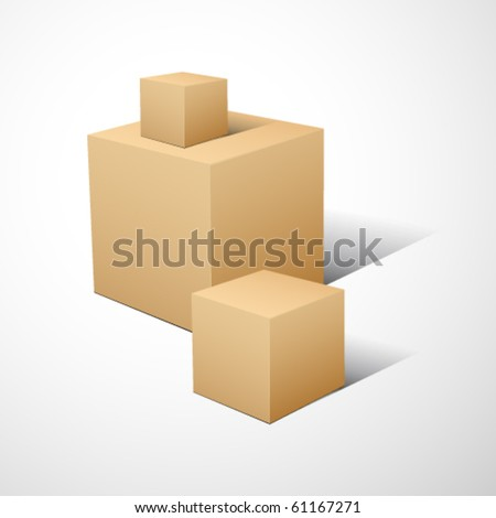 3D cube composition.. Vector illustration.