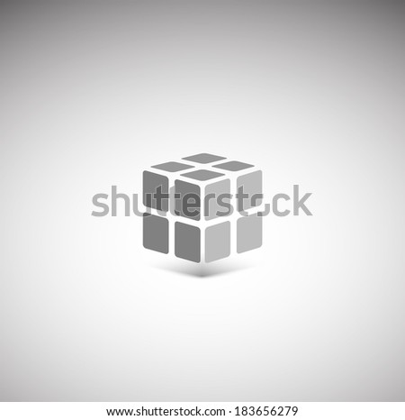 3D cube icon - stock vector