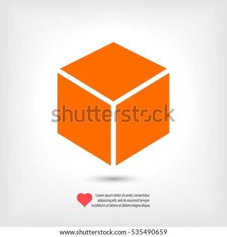 Cube logo stock photos royalty free images vectors for 3d flat design online