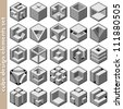3d cube logo design pack