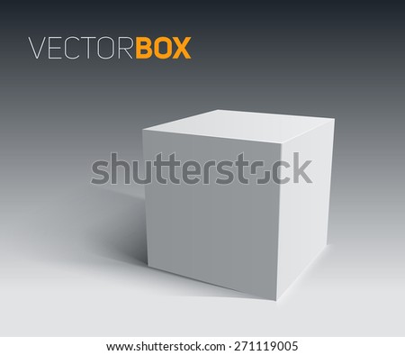 3D Cube. Transportation concept. Vector illustration for your design. - stock vector