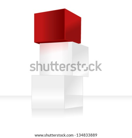 3d cubes - stock vector