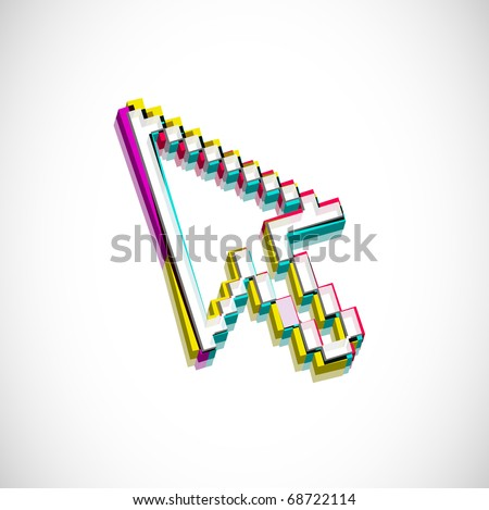 3d cursors mouse symbol, eps10 Vector illustration. - stock vector