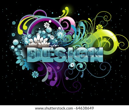 3d design text illustration vector