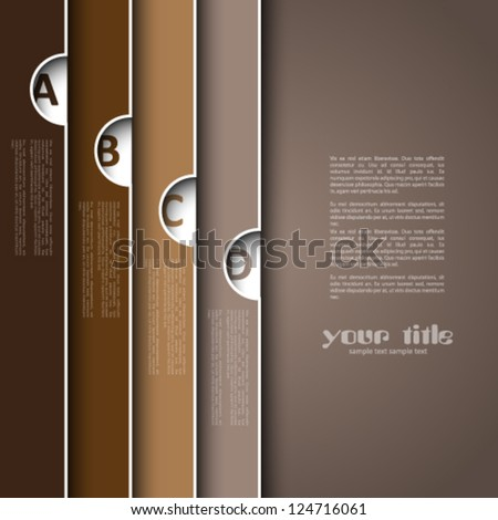 3d design with brown banners - stock vector