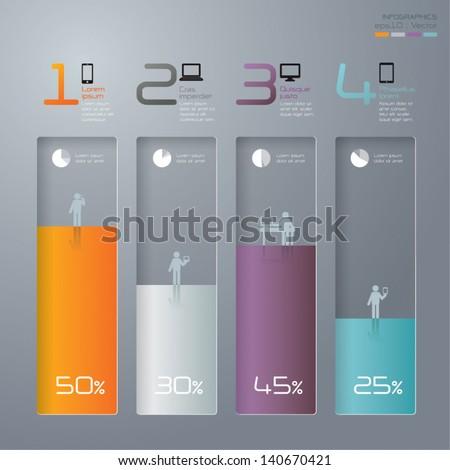 3D digital illustration Infographics vector. - stock vector