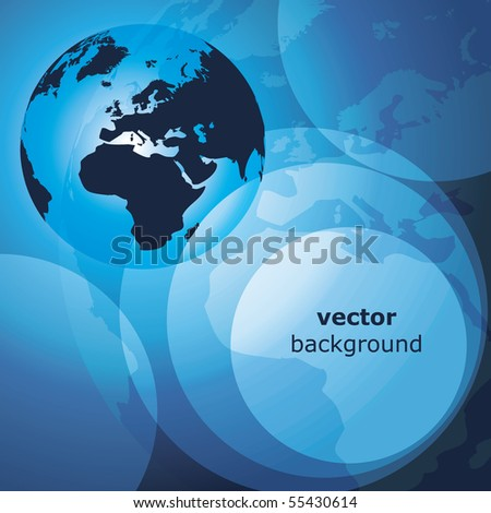 3d earth abstract background - vector illustration - stock vector