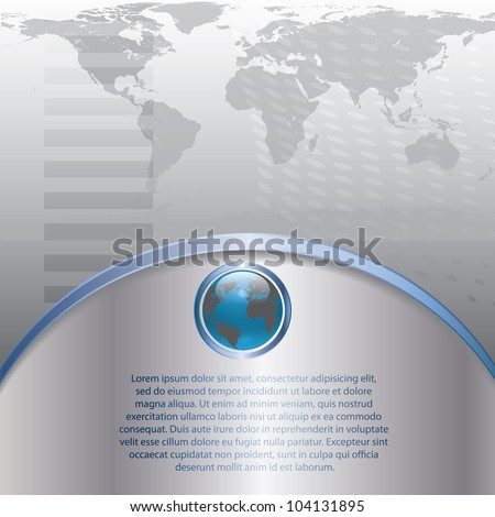 3d earth abstract business background - stock vector