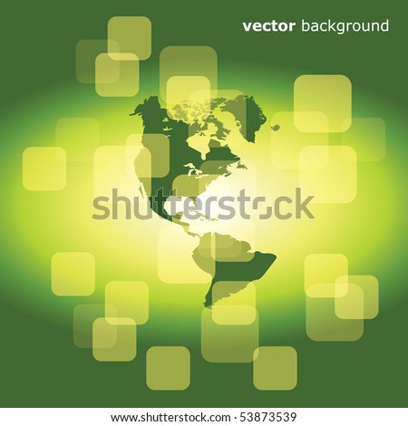 3d eco business abstract background - vector illustration - stock vector
