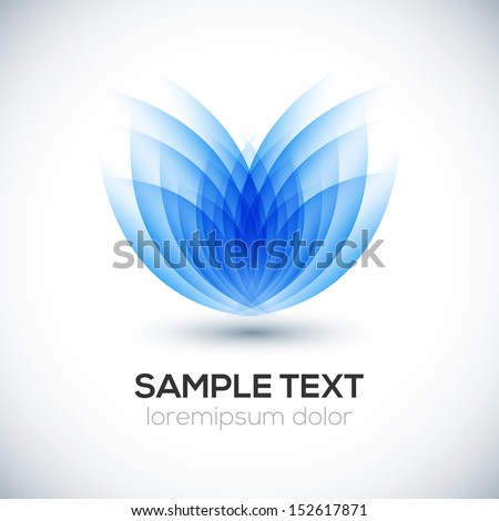 3D flower shape. Vector - stock vector