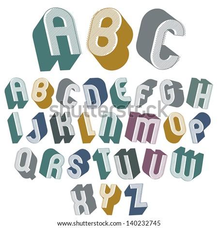 Simple Bold Fonts Alphabet