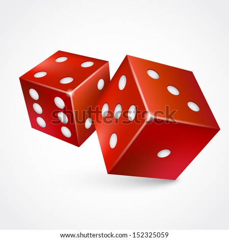 3d game dices isolated on white background - stock vector
