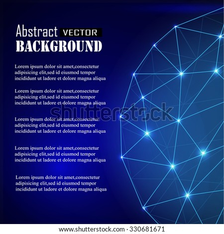 3d geometric vector sphere background for business or science presentation. Connection Structure. Geometric Modern Technology Concept. - stock vector