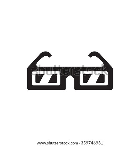 3D Glasses icon - stock vector