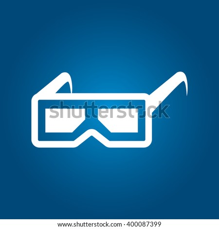 3D Glasses Icon Vector - stock vector