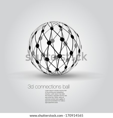 3D Globe Isolated - stock vector