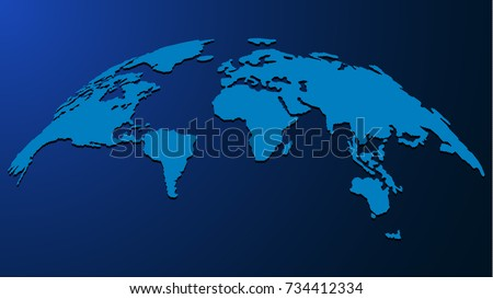 3 d globe map web science business stock photo photo vector 3d globe map for web science business presentations design on blue background gumiabroncs Choice Image