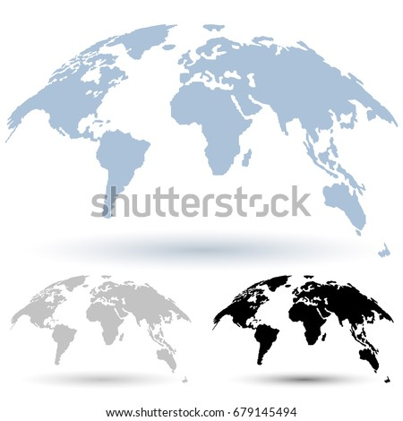 3d globe map isolated on white stock vector 679145494 shutterstock 3d globe map isolated on white background curved in special style 3d vector set gumiabroncs Images